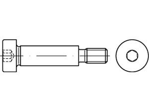 CHC Tête cylindrique six pans creux épaulée Din 7379