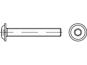 Tête bombée à embase six pans creux ISO 7380-2