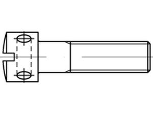 Vis à tête cylindrique fendue avec perçage en croix DIN 404