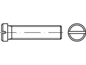 Vis à tête cylindrique réduite fendue Din 920
