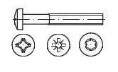 Vis TCB Tête cylindrique bombée Din 7985 - ISO 7045 - ISO 14583