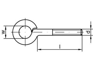 Piton à oeil Type 48