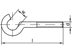 Crochet métrique type 11E