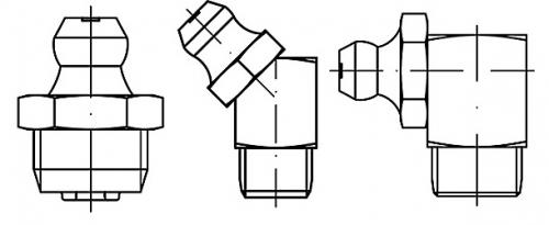 Graisseur forme conique DIN 71412 A, B et C