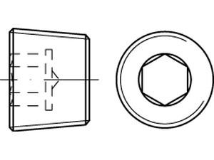 Bouchon fileté avec six pans creux avec filetage conique DIN 906