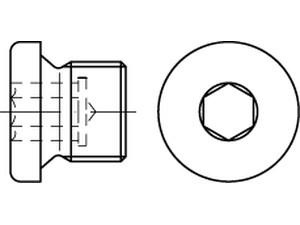 Bouchons à tête cylindrique six pans creux DIN 908