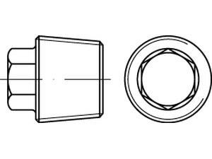Bouchon à tête hexagonale, filet conique - DIN 909