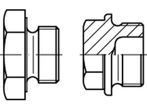 Bouchons filetés à tête hexagonale et embase, Din 7604 forme C