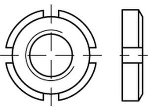 Écrous cylindrique à encoches din 981