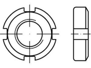 Ecrous cylindriques à trous latéraux din 70852