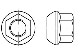 Ecrou de roue embase conique, DIN 74361
