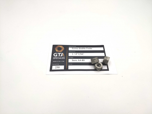 Ecrou fendu  2 fente A4-80 -GTA