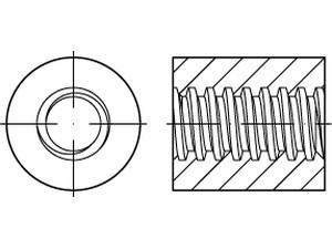 Ecrou cylindrique Trapézoïdale