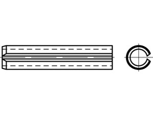 """Goupille élastique """"  Mecanindus """" - ISO 8752 - DIN 1481"""