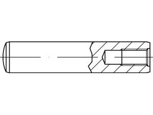 goupille cylindrique taraudée - Din 7979 - Iso 8735