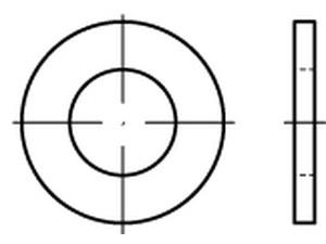 Rondelle plate Din 125 - D 1 - D 1.2 - D 1.4 - D 1.6 - D 2  - D2.3 - D 2.5 - D 3
