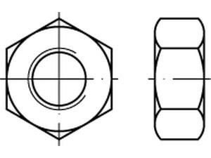 Ecrou Hu Din 934 - M 1 - M 1.2 - M 1.4 - M 1.6 - M 2