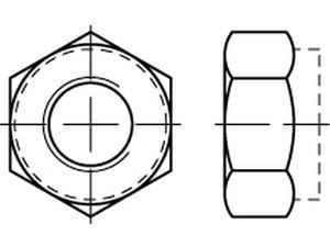 Ecrou frein din 985 - M 1.6 - M 2 - M 2.5 - M 3