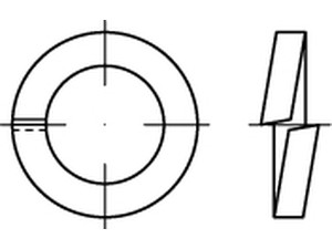 """Rondelle """"grower"""" Din 7980 - D 2 - D 2.5 - D 3"""