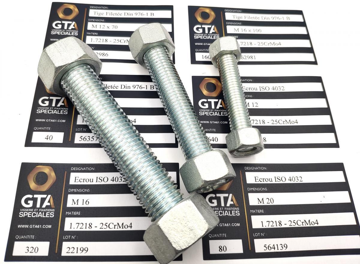 Visserie 1.7218 - 25CrMo4 + passivation -GTA