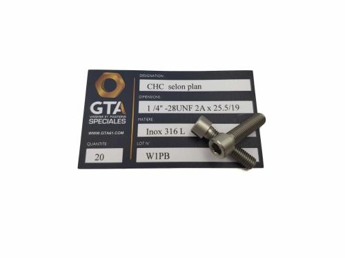 CHC UNF Inox 316L -GTA