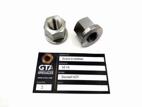 Ecrou à embase Inconel 625 -GTA