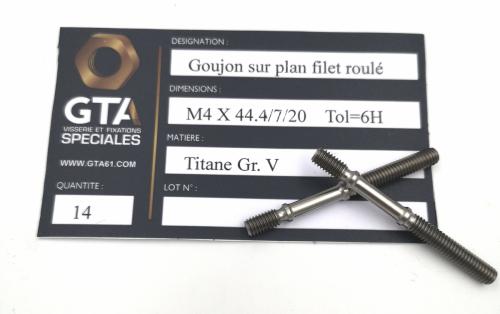 Goujon selon plan Titane Grade 5 -GTA