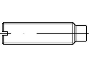 Vis sans tête fendue à téton - DIN 417 - ISO 7435