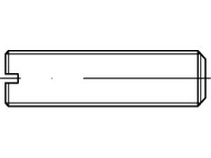 STF Vis sans tête fendue bout plat Din 551 - ISO 4766