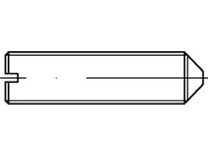 Vis sans tête fendue bout pointeau - DIN 553 - ISO 7434