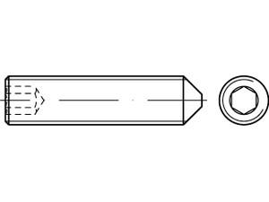 STHC Vis sans tête hexagonal creux bout pointeau Din 914 - ISO 4027