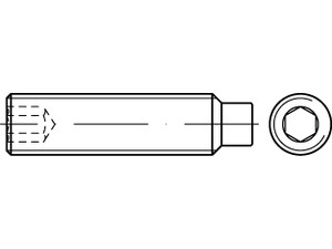 STHC Vis sans tête hexagonal creux bout téton Din 915 - ISO 4028