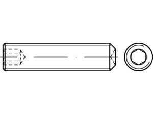 STHC Vis sans tête hexagonal creux bout cuvette Din 916 - ISO 4029