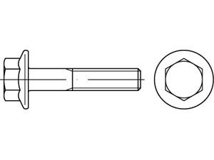 Vis tête hexagonale à embase au pas fin lisse ISO 10105
