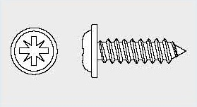 Vis tôle tête cylindrique à embase pozi BS 4174