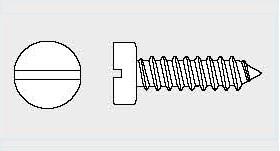 Vis Tôle tête cylindrique fendue Din 7971