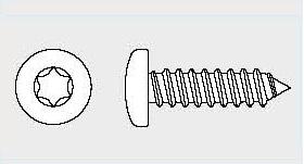 Vis tôle tête cylindrique Torx Din 7981