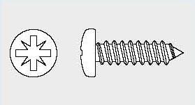 Vis tôle tête cylindrique Din 7981 Z pozi