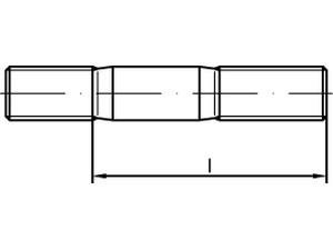 Goujon (engagement 2 x d) - DIN 835