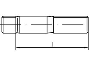 Goujon (engagement 1 x d) - DIN 938